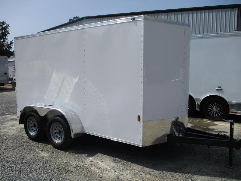 2021 Continental Cargo Sunshine 6x12 Tandem Axle Cargo Trailer WITHOUT Side Door
