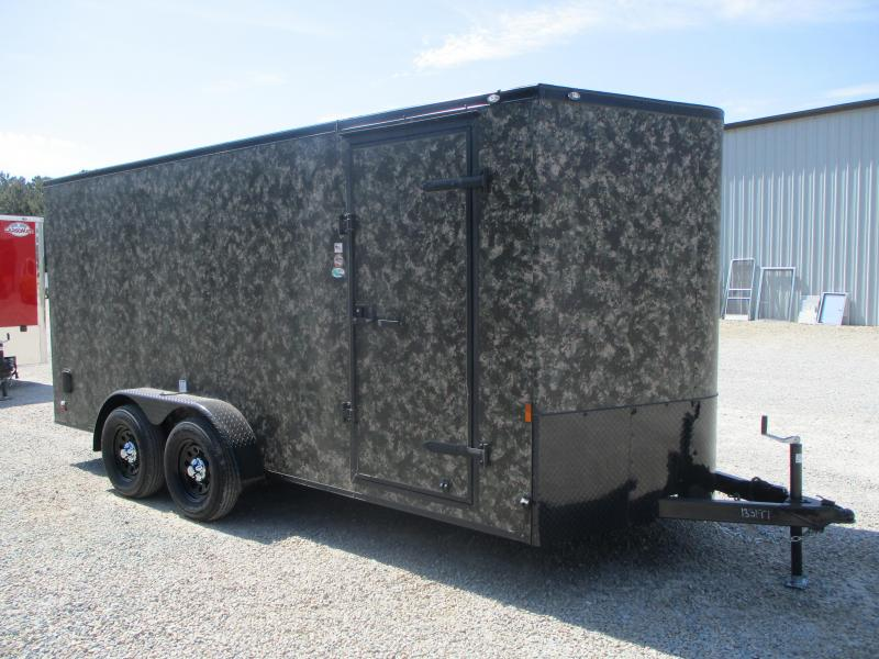 2022 Continental Cargo Sunshine 7x16 Vnose Enclosed Cargo Trailer in Camoflauge