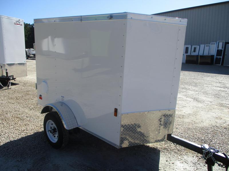 2021 Continental Cargo Sunshine 4x6 Vnose Enclosed Cargo Trailer