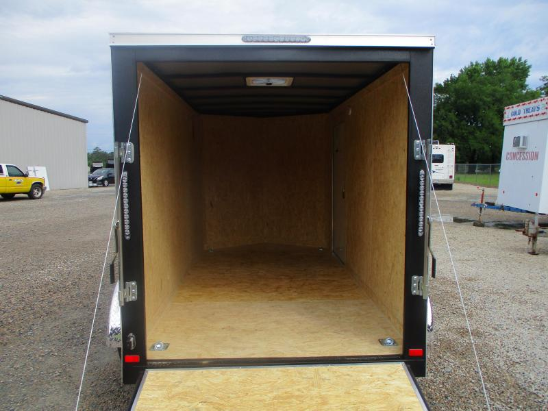 2021 Covered Wagon Gold Series 6x12 Tandem Axle Vnose Cargo Trailer with Ramp Door