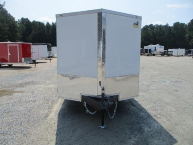 2022 Covered Wagon 7x16 Vnose Cargo Trailer with Double Rear Doors