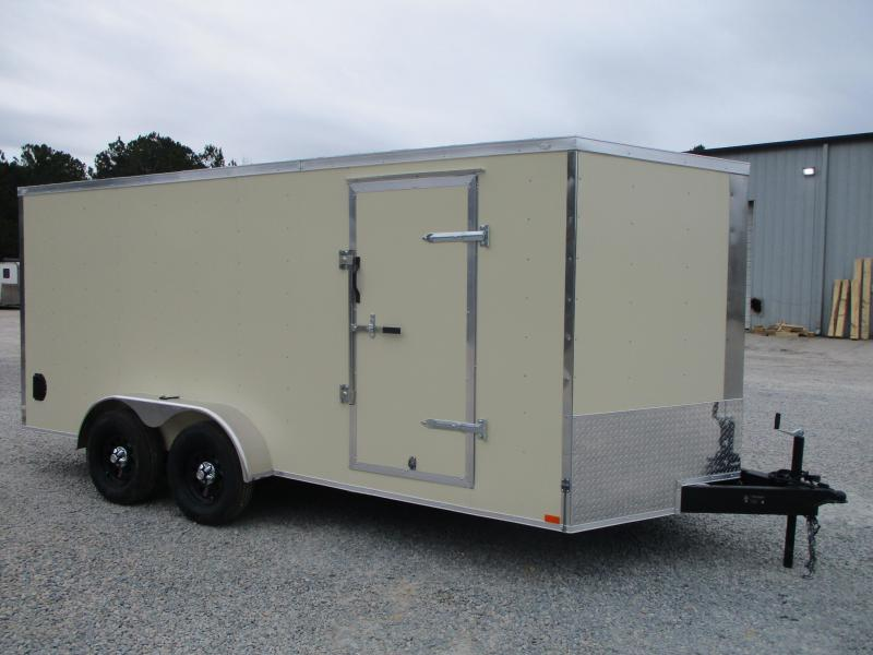 2021 Lark United 7x16 Vnose Enclosed Cargo Trailer with Ramp Door