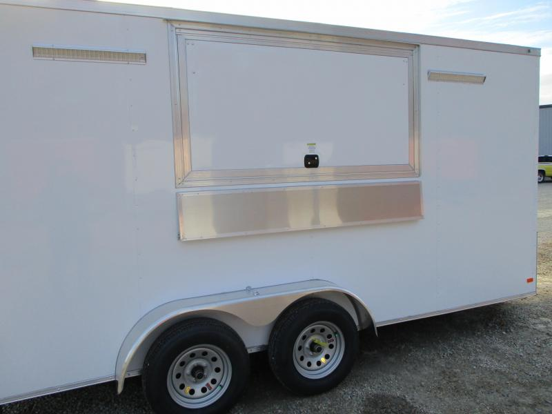 2021 Covered Wagon Trailers 7 x 16 Vending / Concession Trailer with Hood and Sink Package