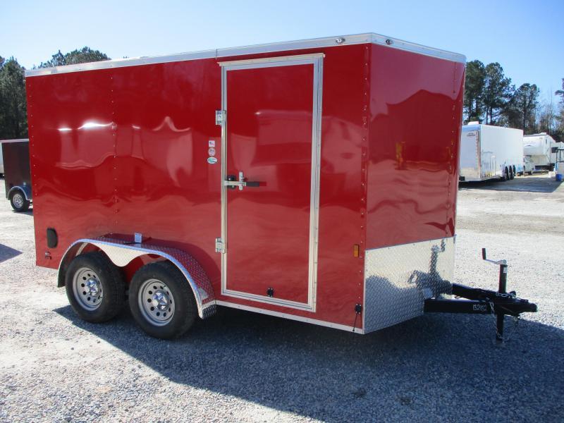 2022 Continental Cargo Sunshine 7x12 Vnose Enclosed Cargo Trailer with Ramp Door