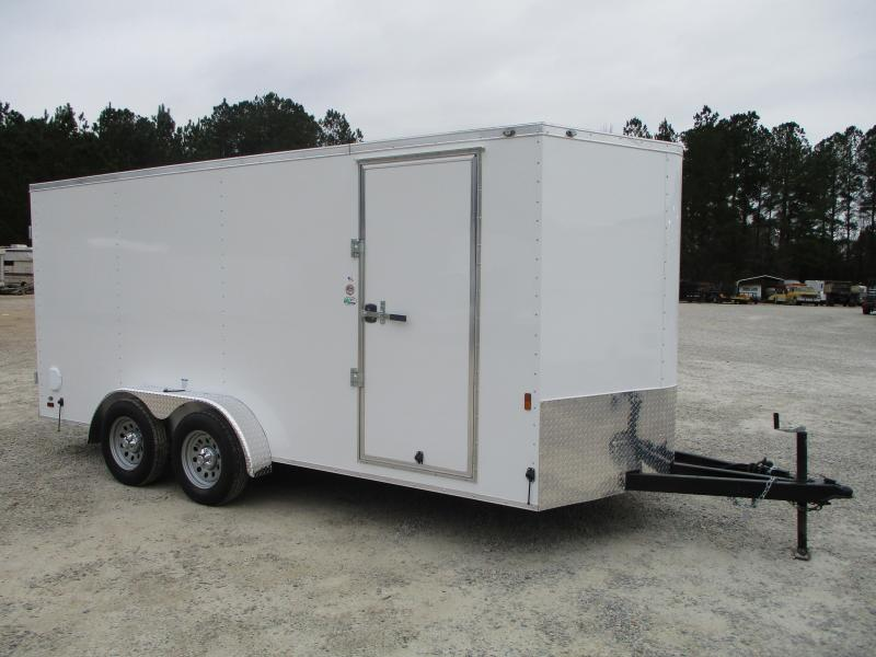 2022 Continental Cargo Sunshine 7x16 Vnose Enclosed Cargo Trailer with Double Rear Doors