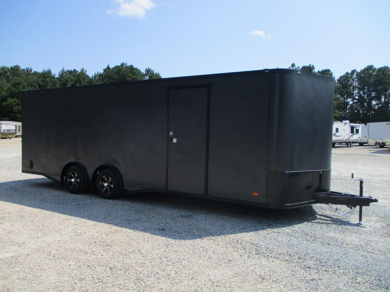 2022 Covered Wagon Gold Series 8.5x24 Spread Axle Vnose Race Auto Trailer