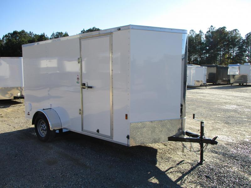 2021 Continental Cargo Sunshine 6.5x12 Vnose Enclosed Cargo Trailer  with Ramp Door