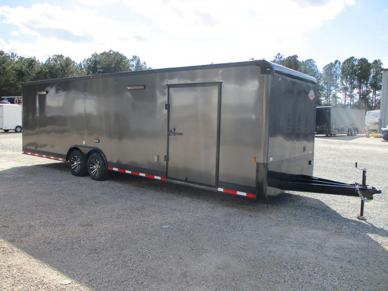 2021 Continental Cargo Sunshine 28' Car / Racing Trailer Loaded Charcoal with Black Trim