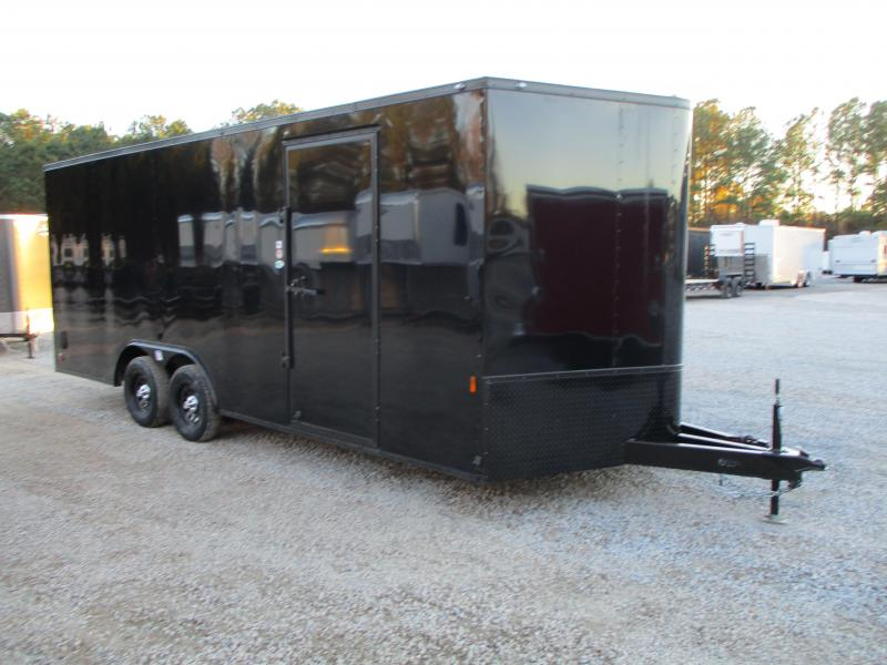 2021 Continental Cargo Sunshine 8.5 x 20 Race Trailer Black with Blackout Package