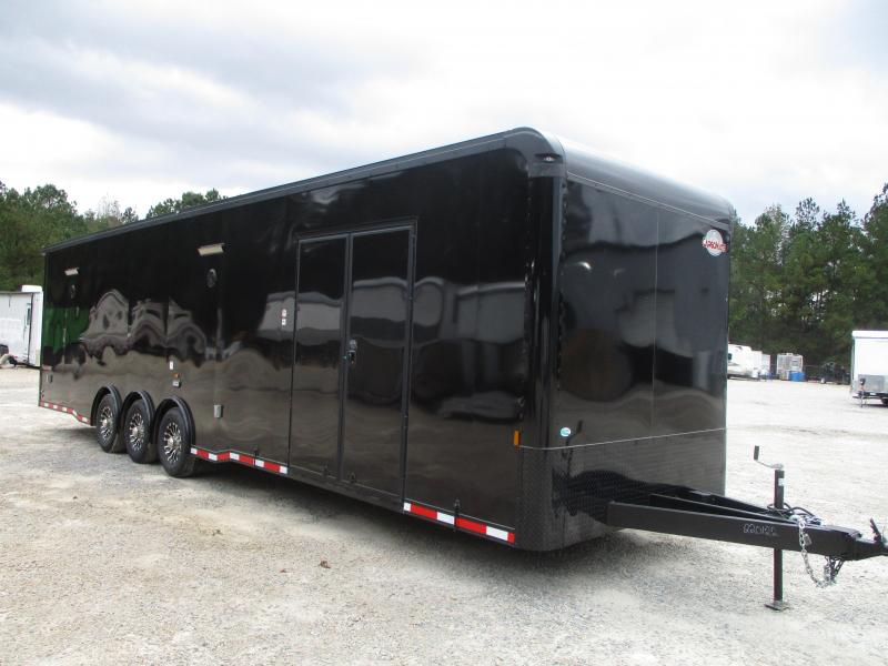 2021 Cargo Mate 34' Eliminator SS Loaded Race Trailer Black with Blackout Package
