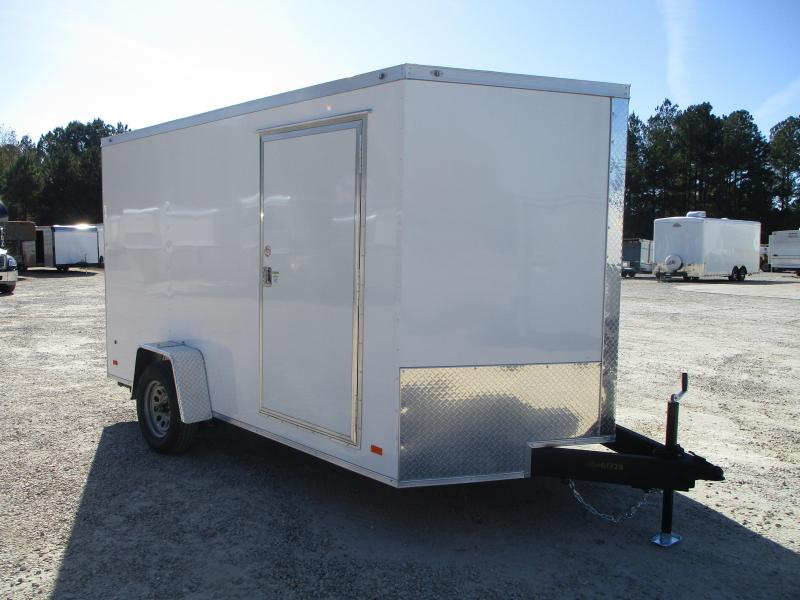2021 Covered Wagon Trailers Gold Series 7x12 Single Axle Vnose Enclosed Cargo Trailer with Ramp