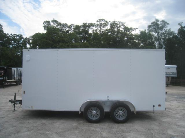 2021 Continental Cargo Sunshine 7X16 Vnose Enclosed Cargo Trailer with Double Rear Doors