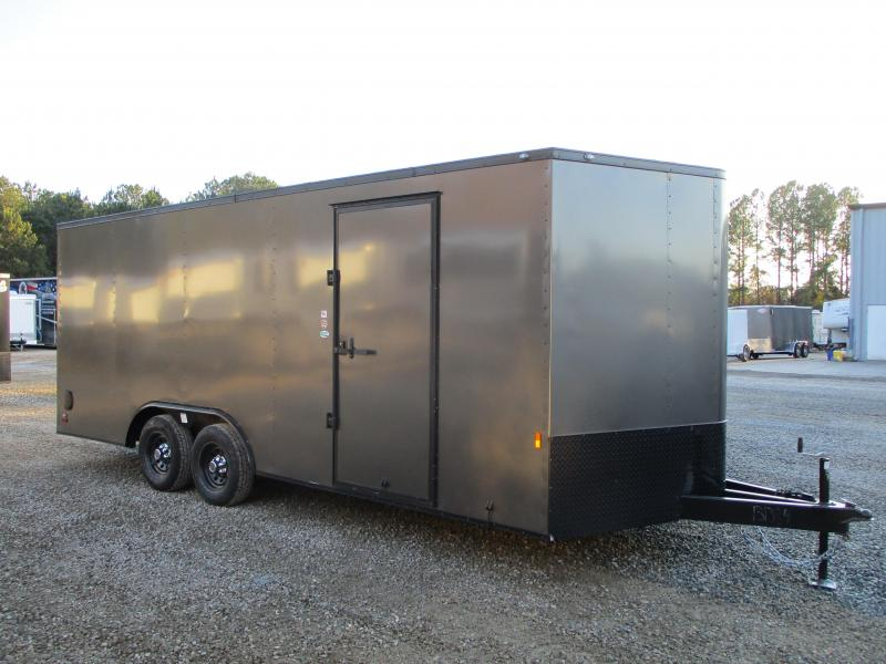 2021 Continental Cargo Sunshine 8.5 x 20 Vnose Enclosed Race Trailer with Blackout Package