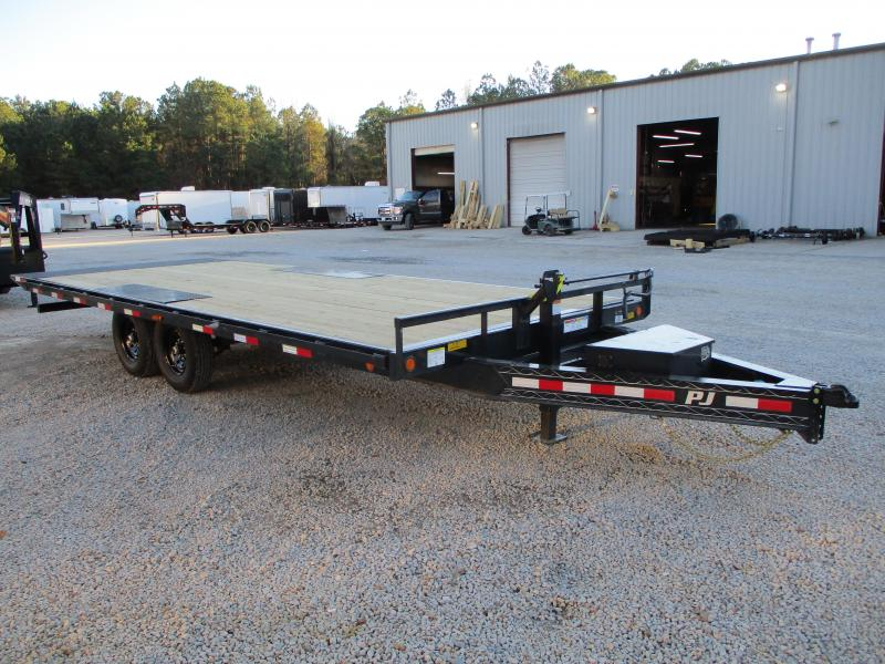 2021 PJ Trailers T8 22' Deckover Power Tilt Bed Equipment Trailer