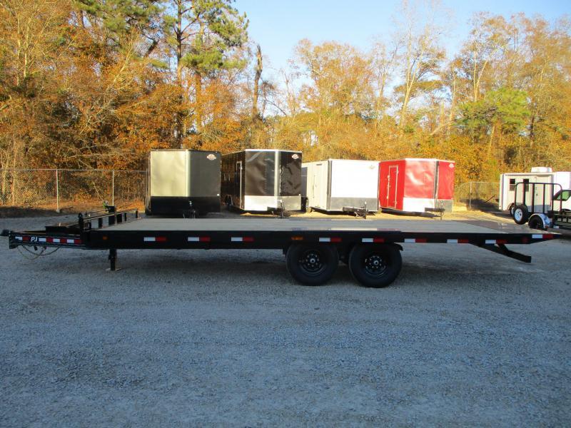 2021 PJ Trailers T8 22' Deckover Power Tilt Bed Equipment Trailer