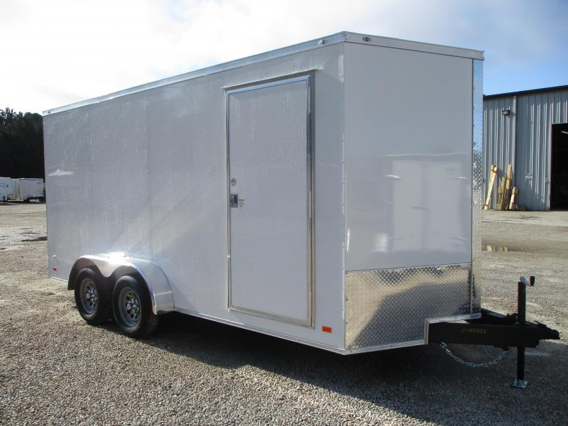 2021 Covered Wagon Trailers Gold Series 7x16 Vnose Enclosed Cargo Trailer