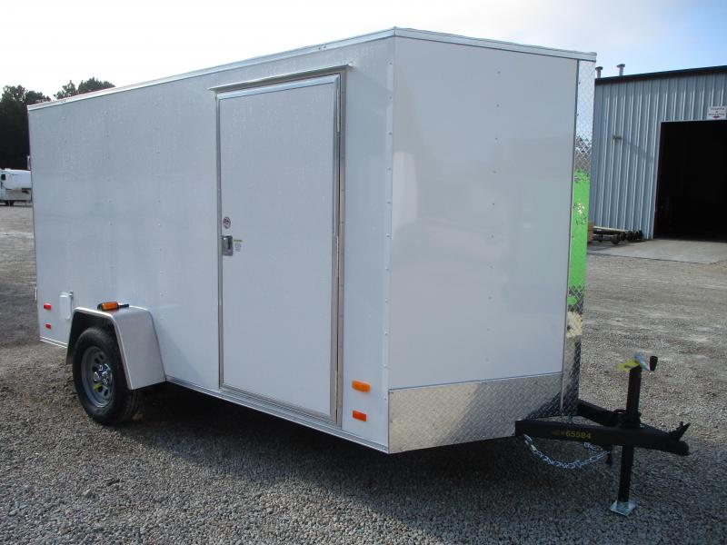 PRICE BUSTER 2021 Covered Wagon Trailers Silver Series 6x12 Vnose Enclosed Cargo Trailer with Double Rear Doors