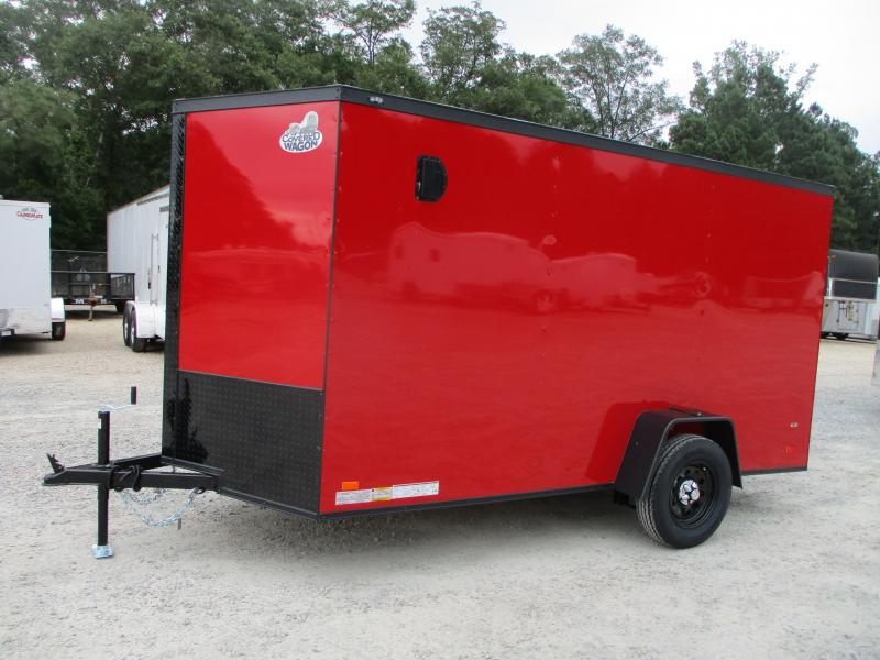 2022 Covered Wagon Gold Series 6x12 Vnose Cargo Trailer with Ramp