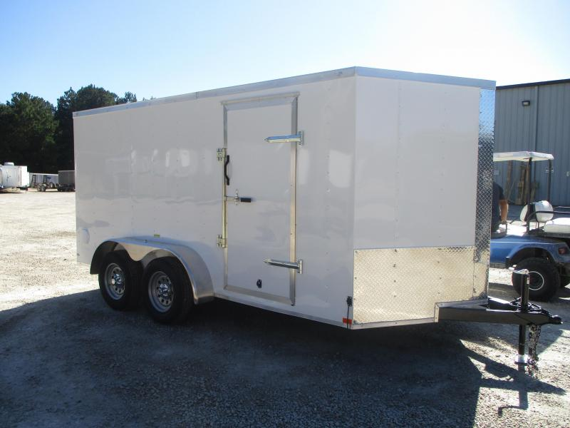 SPECIAL BUY 2021 Lark United 7x14 Vnose Enclosed Cargo Trailer with Ramp Door