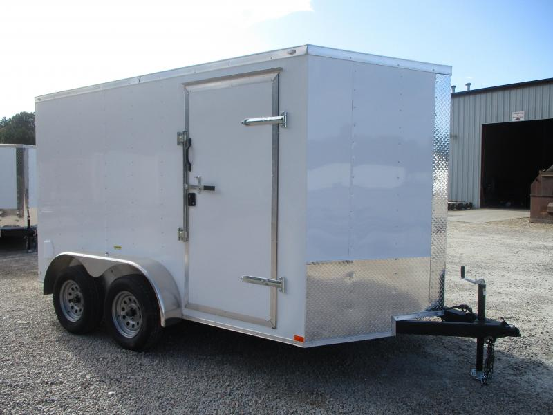 SPECIAL BUY 2021 Lark United 7x12 Vnose Enclosed Cargo Trailer with Ramp Door