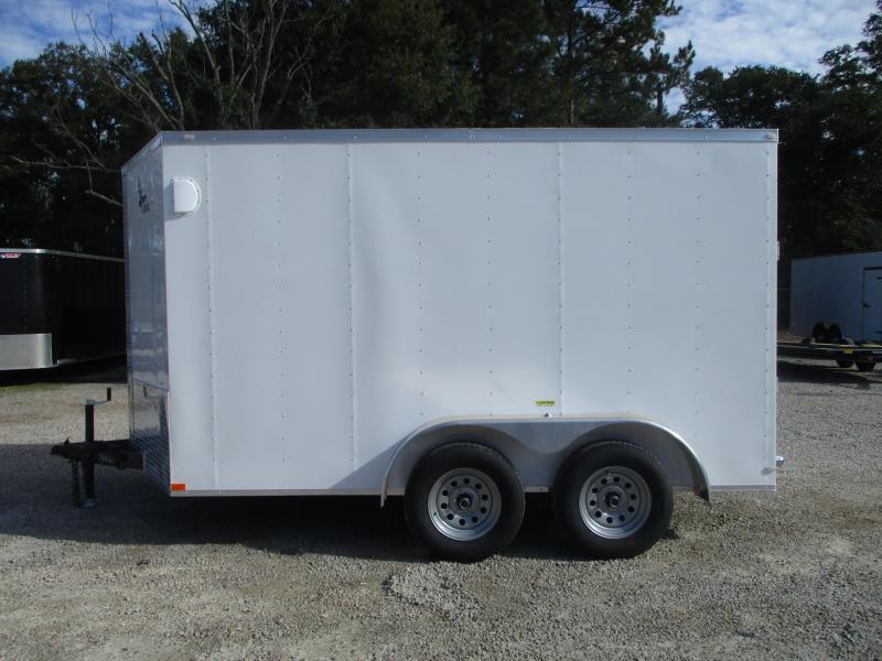 SPECIAL BUY 2021 Lark United 7x12 Vnose Enclosed Cargo Trailer with Ramp Door