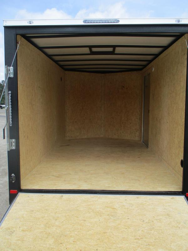 2021 Covered Wagon Gold Series 7x12 Vnose Cargo Trailer with Ramp Door