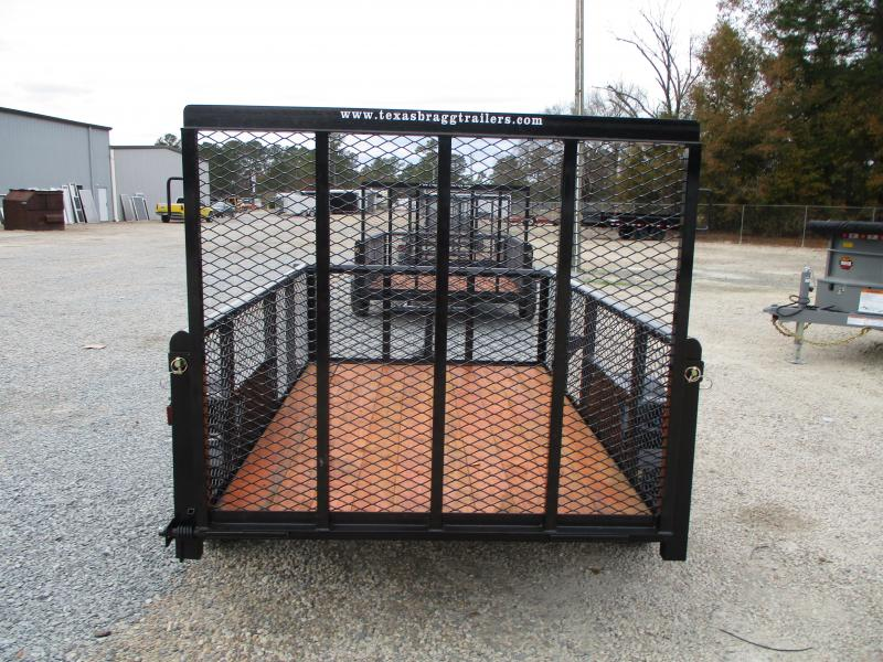 """2021 Texas Bragg Trailers 5x8P Heavy Duty Utility Trailer with 24"""" Expanded Metal Sides"""