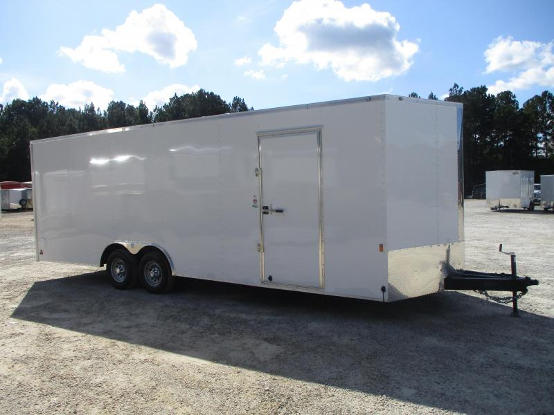 EXTRA HEIGHT 2021 Continental Cargo Sunshine 8.5 x 24 Vnose Car / Racing Trailer with 5200lb Axles