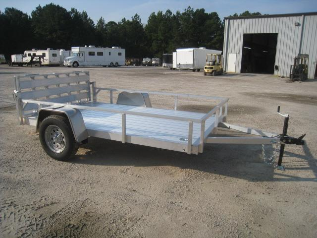 2021 Continental Cargo Rough Rider Aluminum 6.5x10 Open Utility Trailer with Gate