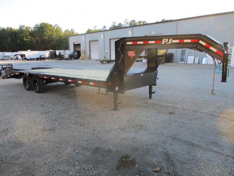2021 PJ Trailers LS 20+5 Deckover Gooseneck Equipment Trailer with 7k Axles