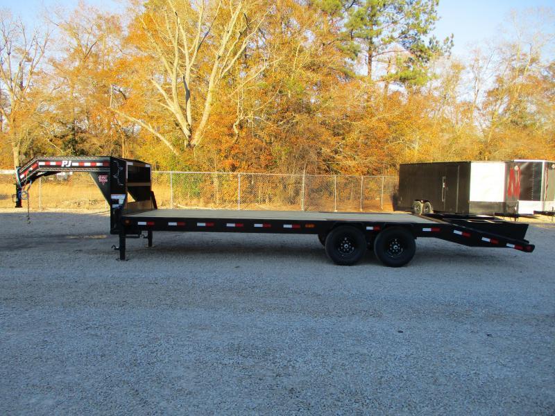 2021 PJ Trailers LS 20+5 Deckover Gooseneck Equipment Trailer with 7k Axles