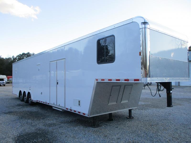 2021 Cargo Mate Eliminator SS 44' Full Bathroom Race Trailer Loaded