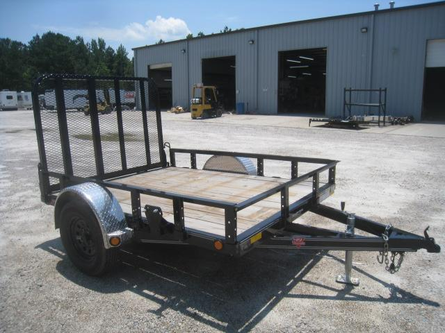 "2020 PJ Trailers U7 8' x 77"" Utility Trailer with Rear Gate"