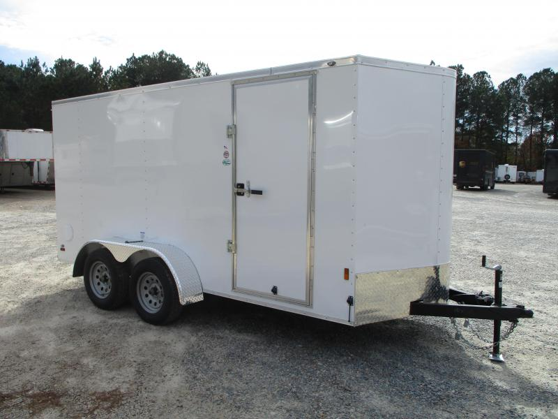 2021 Continental Cargo Sunshine 6x14 Vnose Enclosed Cargo Trailer with Ramp Door
