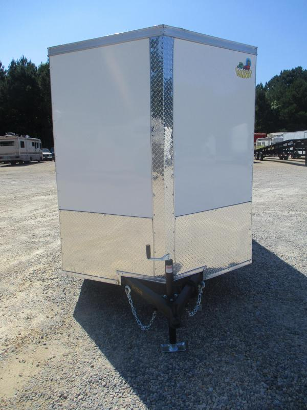 2022 Covered Wagon Gold Series 6x12 Vnose Cargo Trailer with Ramp Door