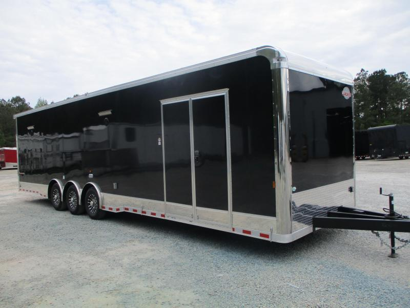 2021 Cargo Mate 34' Eliminator SS Loaded Car / Racing Trailer with Cabinets on Front Wall