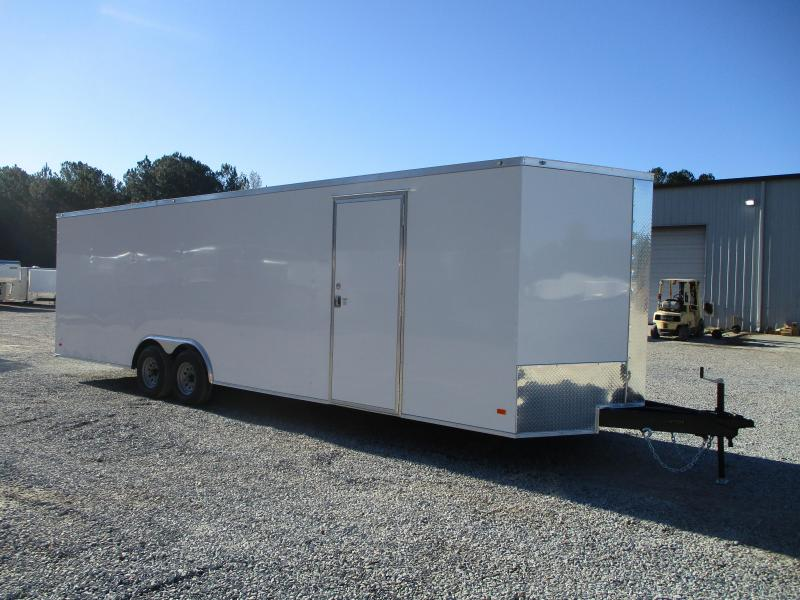 "2021 Covered Wagon Trailers Gold Series 28' Vnose Car / Racing Trailer with 6"" Extra Height"