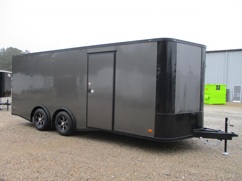 2021 Covered Wagon Trailers Gold Series 8.5x20 Vnose Spread Axle Car / Racing Trailer with Blackout Package