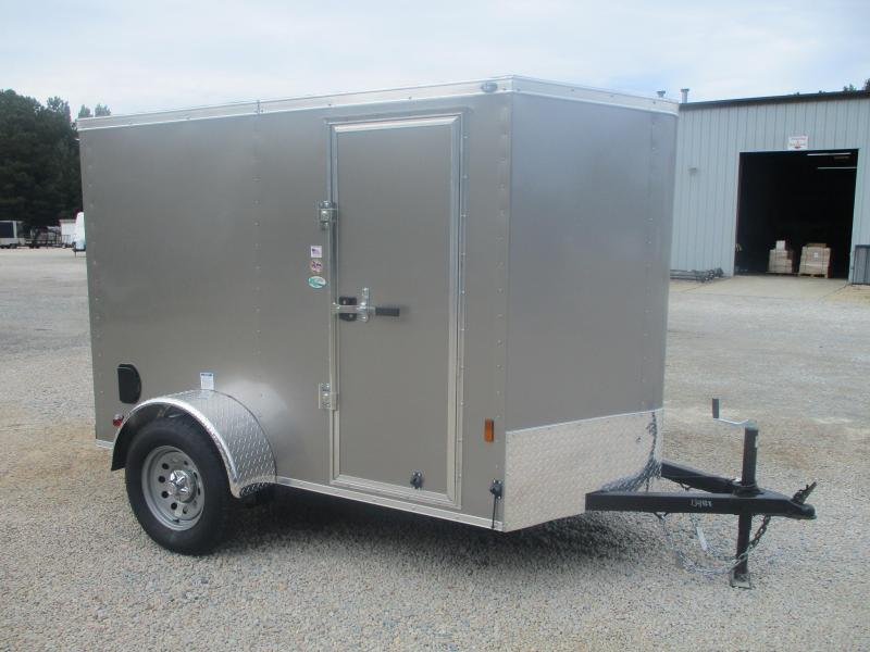 2022 Continental Cargo Sunshine 5x8 Vnose Cargo Trailer with Side Door and Ramp