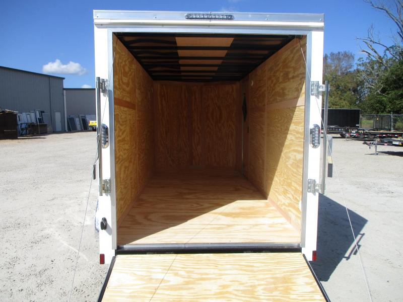 2021 Continental Cargo Sunshine 6x14 Tandem Axle Vnose Enclosed Cargo Trailer with Ramp Door