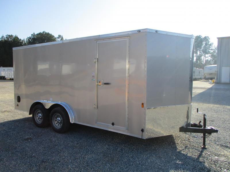 2021 Continental Cargo Sunshine 7.5x16 Vnose Enclosed Cargo Trailer  with Ramp Door