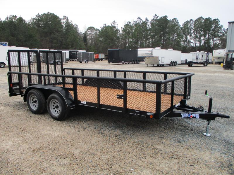 """2021 Texas Bragg Trailers 16P Commercial Grade Utility Trailer with 24"""" Expanded Metal Sides"""