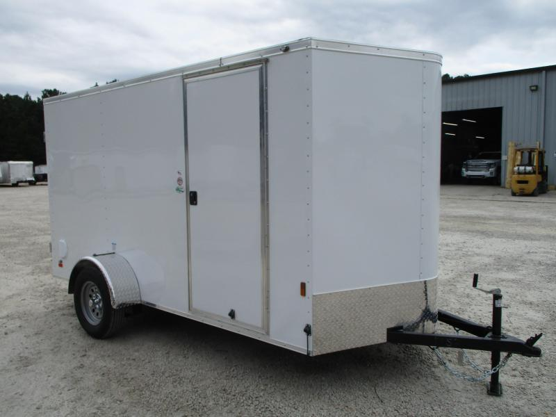 2021 Continental Cargo Sunshine 6x12 Vnose Enclosed Cargo Trailer with Double Rear Doors