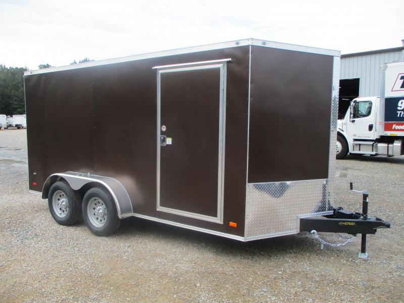 2021 Covered Wagon Gold Series 7x14 Vnose Cargo Trailer with Ramp Door