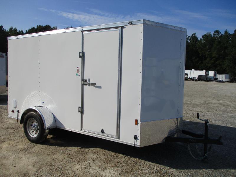 2022 Continental Cargo Sunshine 6x12 Vnose Cargo Trailer with Double Rear Doors