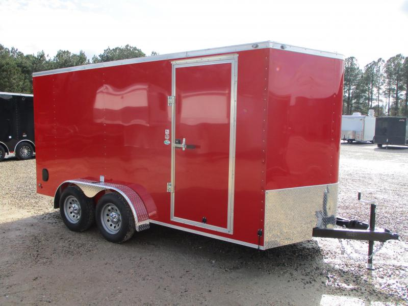 2022 Continental Cargo Sunshine 7x14 Vnose Enclosed Cargo Trailer with Ramp Door