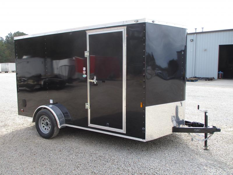 2021 Continental Cargo Sunshine 7x12 Vnose Enclosed Cargo Trailer with Ramp Door