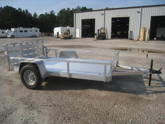 2021 Continental Cargo Rough Rider Aluminum 6.5x10 Open Utility Trailer with Rear Gate