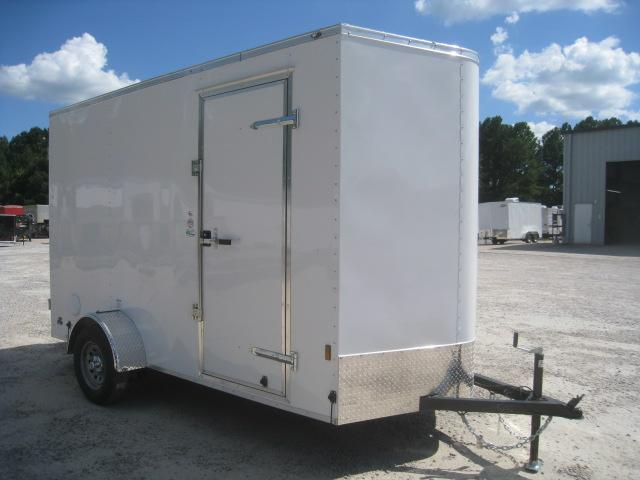 2021 Continental Cargo Sunshine 6x12 Vnose Cargo Trailer with Double Rear Door and Extra Height