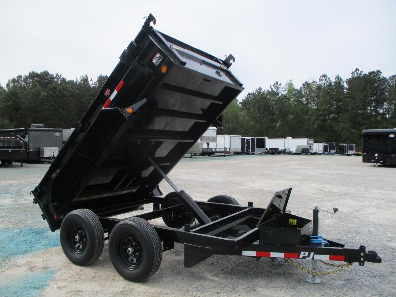 2021 PJ Trailers D3 10 x 72 Tandem Axle Dump Trailer with 5200lb Axles